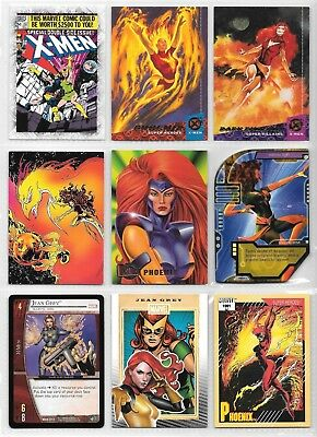 Jean Grey, Phoenix, Marvel Girl, X-Men, Marvel card lot