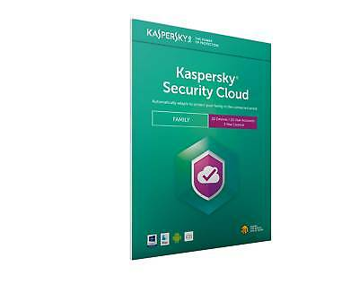 Kaspersky Security Cloud Family 20 Accounts for 20 Devices 1 Year License