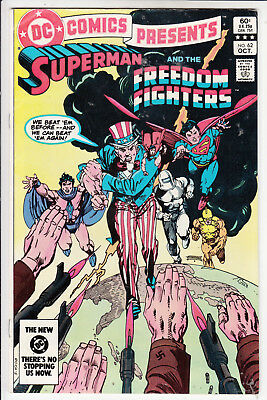Comic Presents #62  Vfn+/ Vfn Superman & Freedom Fighters  1983  Dc Comics