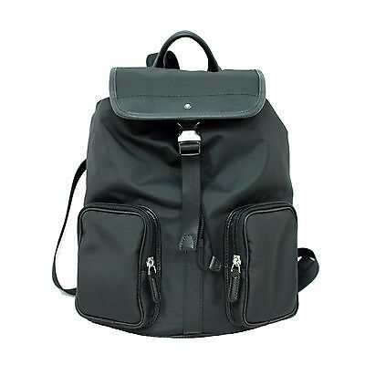 Man Backpack MONTBLANC SARTORIAL JET rucksack for laptop small Black New  116800 4887814814