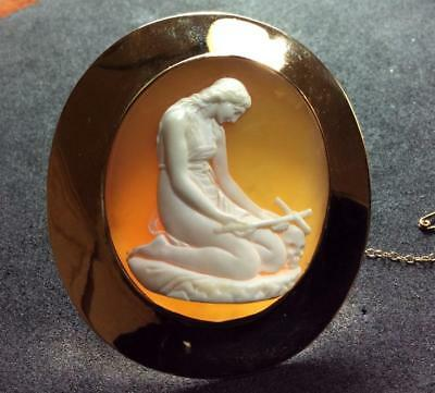 Rare Museum Cameo Brooch Of A Penitent Mary Magdalene After Canova, Layaway!