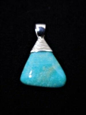 Natural Turquoise  925 Silver Pendant