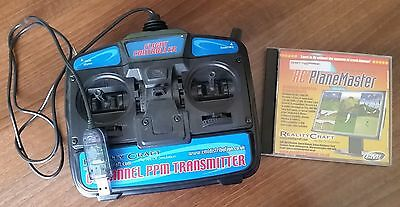 RealityCraft RC Plane Master Flight Simulator with Transmitter Mode 2 RCSIM41