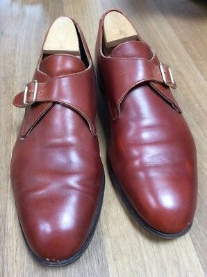 TRICKERS Monkstrap 11 / 45 rotbraun Jermyn St Collection rahmengenäht England