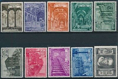 [ST16300] Vatican 1949 Good set of stamps very fine MH