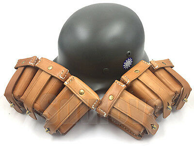 WWII Chinese army  leather ammo pouch