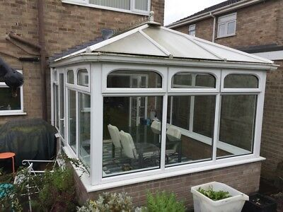 Good quality used Upvc Conservatory with polycarbonate roof.
