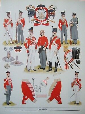"MILITARY 12"" x 9"" PRINT -1825 71ST ROF (HIGHLAND LIGHT INFANTRY)  BY  B FOSTEN"