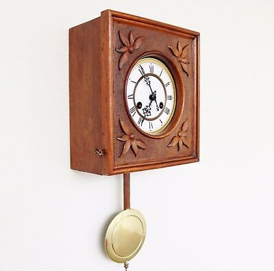 Wall Clock GUSTAV BECKER Antique Germany RESTORED! SERVICED Movement GONG Chime!