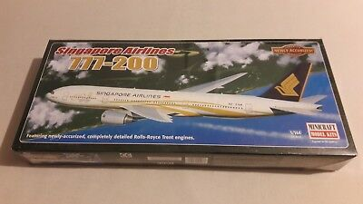 Minicraft Model Kits Bausatz 1:144 Boeing 777-200 Singapore Airlines