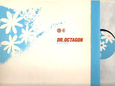 """DR OCTAGON blue flowers (uk 1996) 12"""" PS EX/EX- MW055 abstract experimental"""