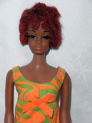 Vintage 1970s Black Barbie Christie Doll in Original Outfit Two Way Tiger #3402