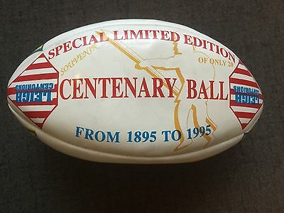 Old Leigh centurions rugby league ball centenary limited edition rare signed