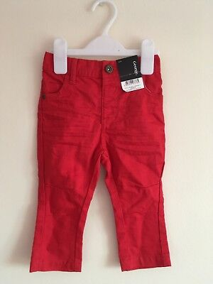 Bnwt Red Jeans 12-18m