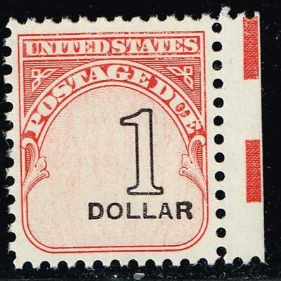 USA STAMP #J100 $1 1959-85 Postage Due OVPT SHIFT TO RIGHT ERROR MNH
