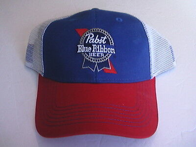 Pabst Blue Ribbon Beer Trucker Cap Snapback Mens One Size