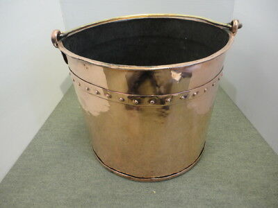 Mid Victorian Copper Coal Bucket
