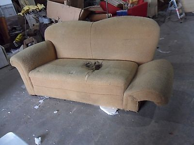 drop arm antique vintage camel back sofa   reupholstery  upcycling
