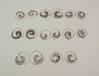 8Pcs. Lot Deluxe Spiral 925 Silver Plated Royal Antique Earring KA10234
