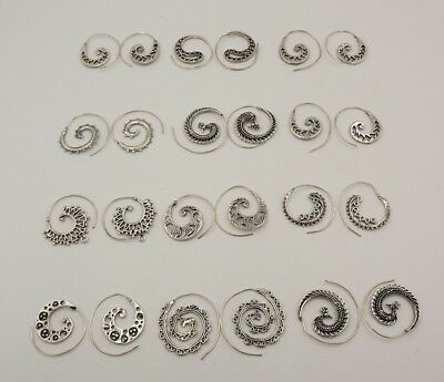 12Pcs. Lot Royal Spiral 925 Silver Plated Charming Antique Earring KA10221