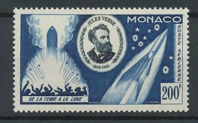 [P9339] Monaco airmail 1955 JULES VERNE good stamp very fine MNH value $42