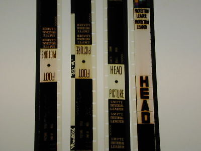 TWO 16mm sound IB TECHNICOLOR FULL HEAD & TAIL LEADERS FOR REPLACEMENT USE