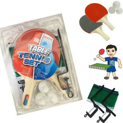 Kid's 2 Player Table Tennis Kit Fun Kids Game Toy Gift Pack with 3 Balls & Net