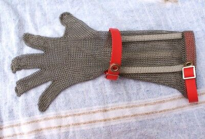 Chain Mesh or Chain Mail Glove for Meat Works Food Processing