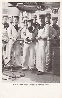 HMS Good Hope - Rigging Coaling Gear  - unused Gale and Polden card