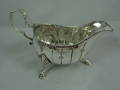 IRISH, 18th CENTURY solid silver SAUCE BOAT, 1782, 169gm