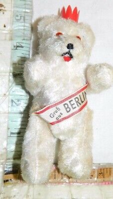 schuco bear vintage mohair toy jointed teddy bear antique sweet small white