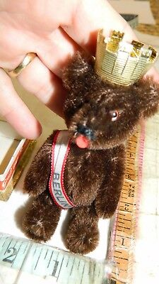 schuco bear vintage mohair toy jointed teddy bear antique tricky nodder box