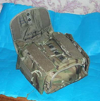British Army Gsr Gas Mask Mtp Haversack With Shoulder Strap & Side Pouches (A)