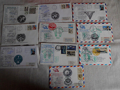 Space Shuttle 10 different Cover Aircraft flown orig.signet