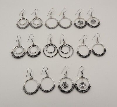 8Pcs. Lot Very Special 925 Silver Overlay Alluring Lovely Earring KA10149