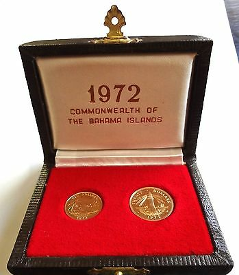 Bahamas Proof Gold Set 1972 10 & 20 Dollars (only 1250 proof issued) 9.65 gms
