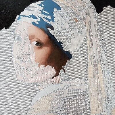 Amazing 'Girl with a Pearl Earring' paint by numbers in beautiful oil paints