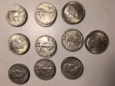 Roll of mixed Silver Halves, $10 face