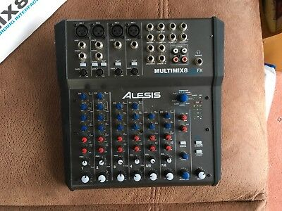 Alesis Multimix8 USBFX Channel Mixer Recording Interface With Effects