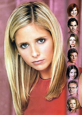 This Buffy Print on a T/Shirt White Size L Gift Present LIMITED STOCK