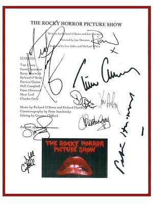 The Rocky Horror Picture Show Movie Signed Script Rpt Tim Curry  Susan Sarandon