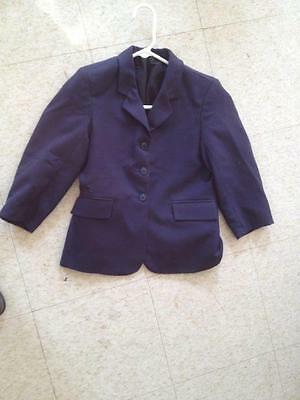 TUFFRIDER Navy Youth's Hunt Coat Size 12 *VGC* 100% Polyester