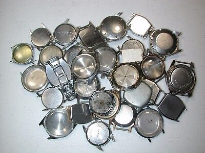 Watchmaker's Assortment of Thirty Vintage Wristwatch Cases. 71J