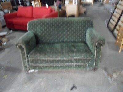 antique vintage lounge sofa  reupholstery  upcycling