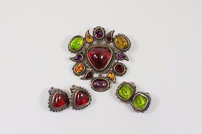 Pocci Costume Pin and Earrings Set