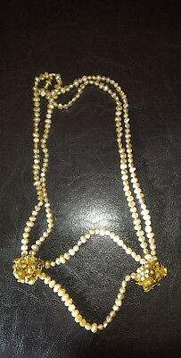 Vintage Miriam Haskell? Freshwater Pearl Necklace Beautiful Iconic Jewellery Uk