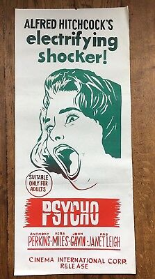 PSYCHO original movie poster Alfred Hitchcock Anthony Perkins Janet Leigh