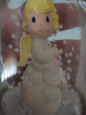 Precious Moments Snow GLOBE Dome My Guardian Angel Hong Kong Girl On Cloud 1982