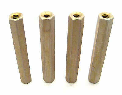 "Aluminum Threaded Hex Spacers/Standoffs, 4/40 x 2"" Long: 4/Lot: HH Smith 8411"