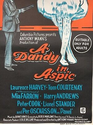 A Dandy in Aspic *original 1968 movie poster*  Excellent condition